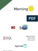 NoSql Mayank Singh