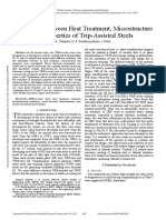 Correlation Between Heat Treatment Microstructure and Properties of Trip Assisted Steels