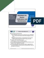 PROFIBUS PA Device Calibration and Maintenance_ FLOATING POINT