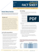 California State Auditor: School Library Services (Fact Sheet)