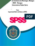 Importar Matriz de datos en SPSS