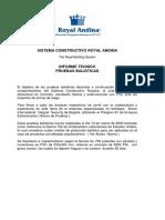 Pruebas Balisticas Sistema RBS