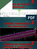Seccion de via Av Amapolas