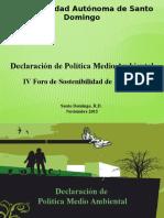 Declaracion de Politica Medio Ambiental