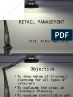 Strategic Planning in Retailing