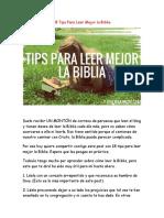18 Tips Para Leer Mejor La Biblia