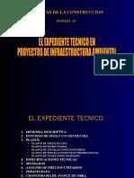 03 - SEMANA 03 - EL EXPEDIENTE TECNICO PARA PROYECTOS DE INFRAESTRUCTURA AMBIENTAL.ppt
