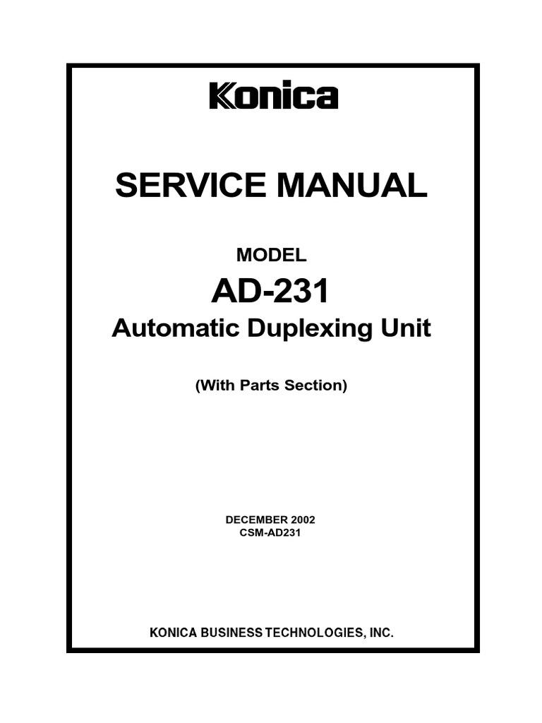 Service Manual: Automatic Duplexing Unit
