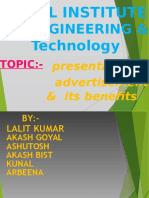 Advertisement-ppt by Lalit Jangra