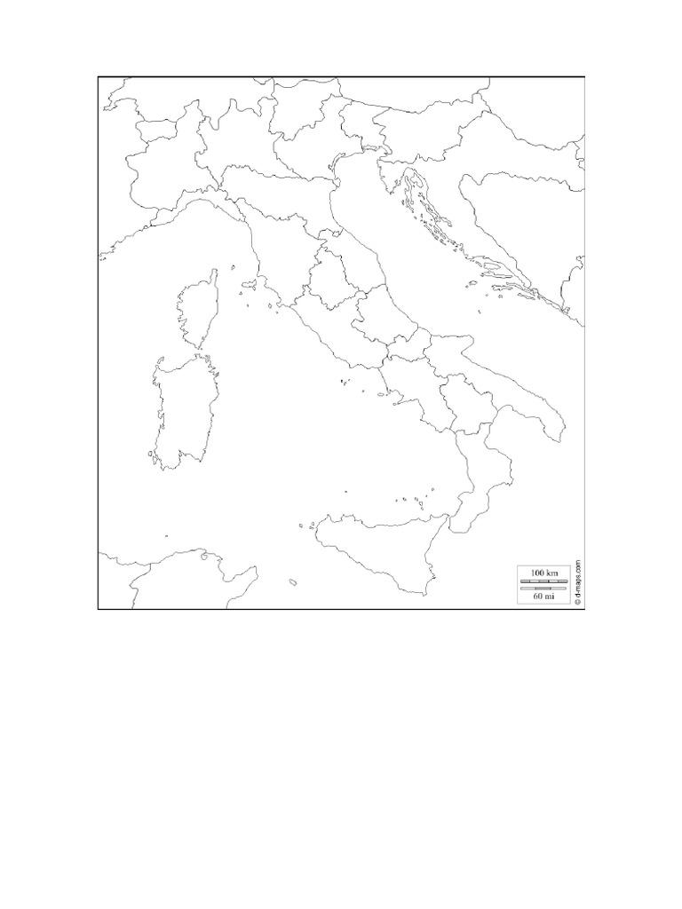 Mapa De Italia Mudo.Mapa Mudo Italia Antigua