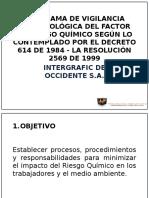 Programa de Vigilancia Epidemiológica Del Factor de Riesgo 2016