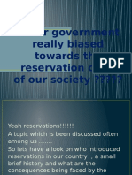 Reservation in indian society??