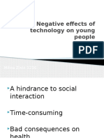 Negative Effects of Technology on Young People Pp