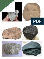 DIBUJOs de los tipos de rocas
