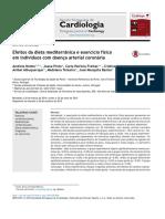 Efeitos Da Dieta Mediterr Nica e Exerc Cio f Sico Em Indiv Duos Com Doen a Arterial Coron Ria 2015 Revista Portuguesa de Cardiologia
