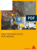 Sika Technologies for Mining