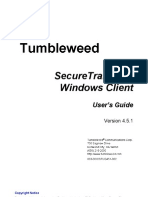 tumbleweed secure transport client download