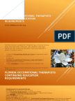 Florida Occupational Therapists Continuing Education Requirements