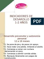 Indicadores de Desarollo 1 a 3 Años