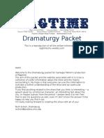 ragtime dramaturgy packet