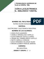 Introducción a La Electonica Industrial Analógico y Digital