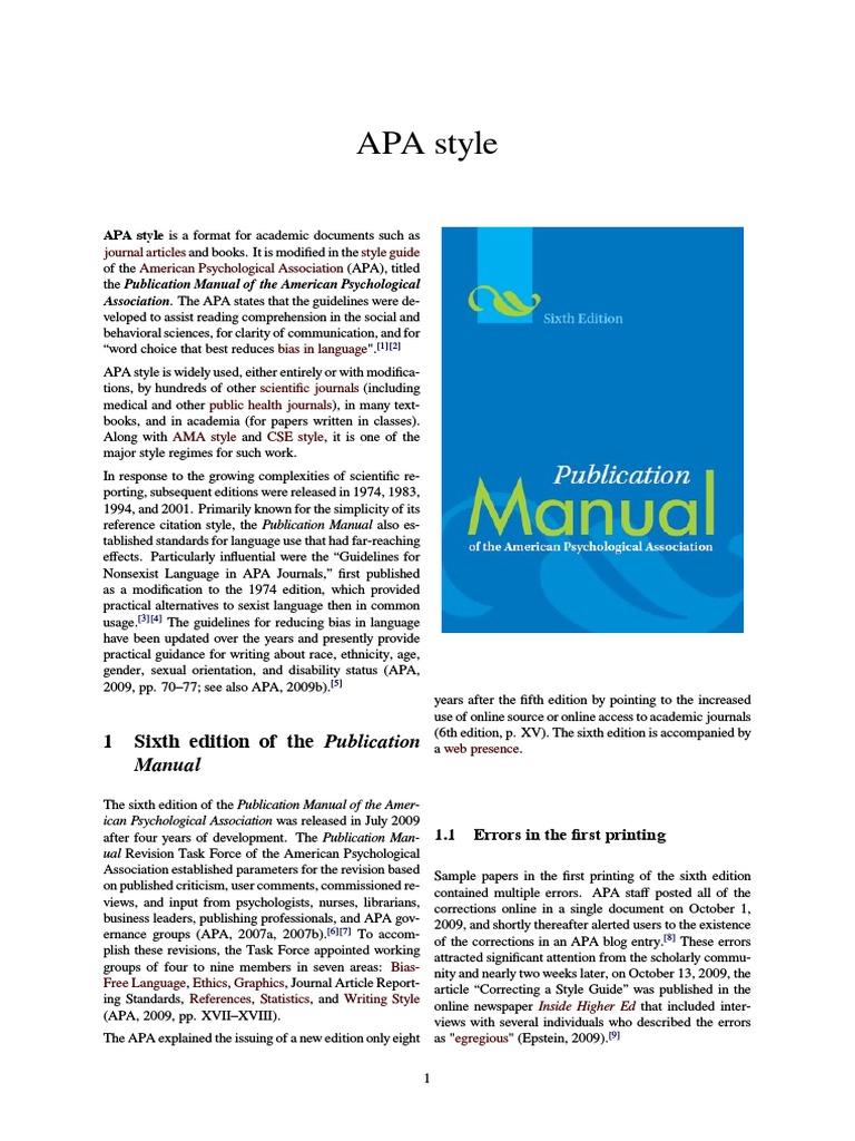 apa style apa style academic publishing