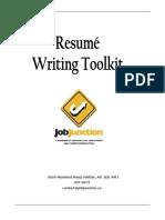 Job Junction Resume Writing Toolkit