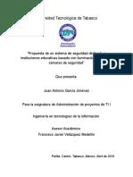 Administracion de Proyectos - Propuesta de Un Sistema de Seguridad