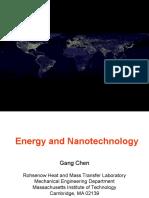 Energy and Nanotechnology