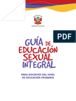 Guia Educacion Sexual Integral Nivel Primaria