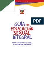 Guia Educacion Sexual Integral Nivel Primaria