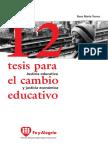 12 tesis para el cambio educativo, Rosa María Torres.pdf
