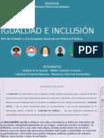 IGUALDAD E INCLUSIÓN - TRABAJO RESPONSABILIDAD  SOCIAL