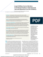 Risk of Suicide Among US Military Service Members Following Operation Enduring Freedom or Operation Iraqi Freedom Deployment and Separation From the US Military