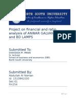 NSU Fin254 Financial Analysis