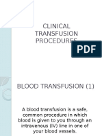 Clinical Transfusion Procedures