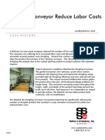 Case History - Deshingling Slipstick- Slipstick Conveyor Reduce Labor Costs
