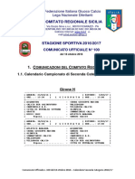 Calendario II Categ 2016-2017 Girone H