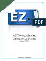 EE603 AC Theory Circuits Generators Motors