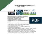 2. Diferencias INTEL - AMD