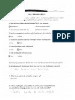 pre assessment 2