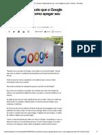 Como Descobrir Tudo Que o Google Sabe