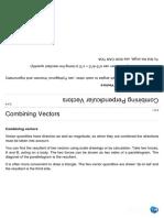 Mechanics - Combining and Resolving Vectors