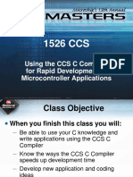 Using the CCS C Compiler for Rapid Development of  Microcontroller