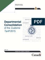 Customs Tariff 2015 Canada.pdf
