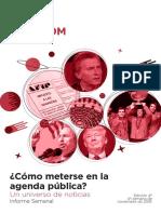 Labcom - Informe Semanal de Agenda Pública - Noviembre2016, Semana 4
