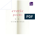 Erotic Poems - e. e. Cummings