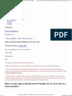 Steps to Install Oracle Weblogic Server 12