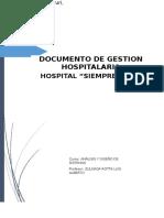 Documento Del Sistema de Gestion Hospitalaria