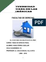 El Concurso de Delitos en El Peru